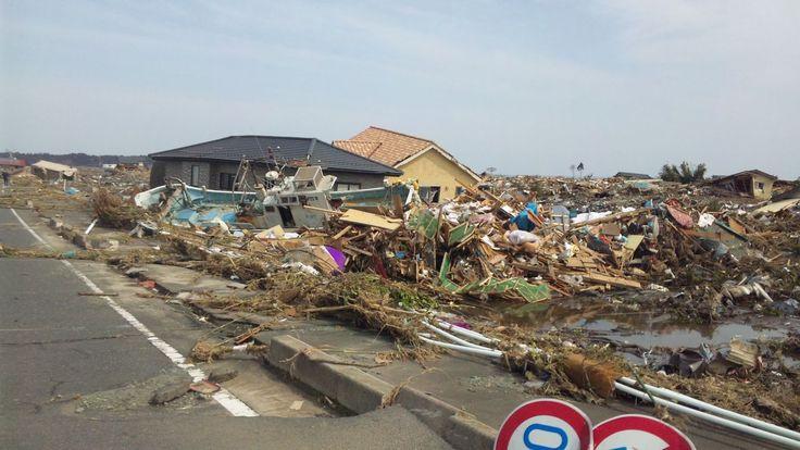 東日本大震災で、海側が壊滅的な打撃を受けました。