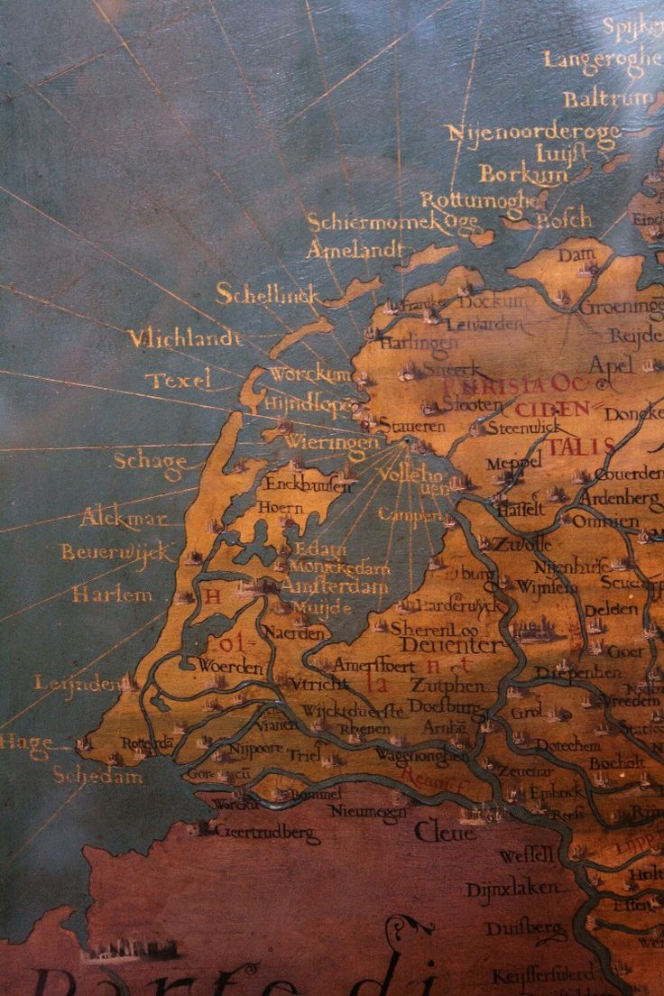 Map of The NetherlandsHolland dating from 1577