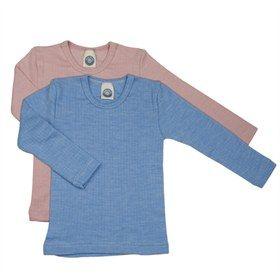 Shirt lange mouw van wol, katoen en zijde Cosilana. Fijn om in te slapen of als onderkleding als het erg koud is. Laat de ijspret maar komen!