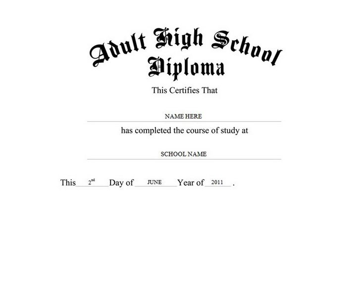 Adult High School Diploma Free Templates Clip Art & Wording | Geographics