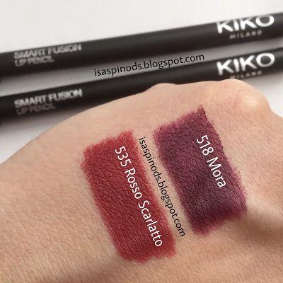 Kiko Smart Fusion Lip Pencil en los tonos 535 Rosso Scarlatto y 518 Mora - Delineador de Labios en-> Little Fairy: ¡Compras de Febrero 2017!