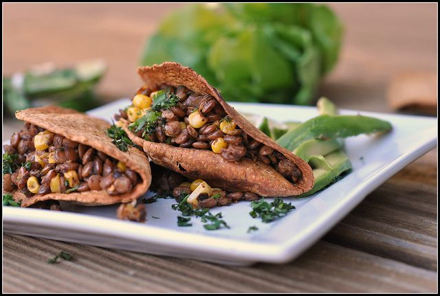 Vegan Lentil and Corn Tacos