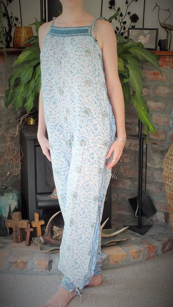Vintage Cotton Indian Jumpsuit by ParrotMoon on Etsy