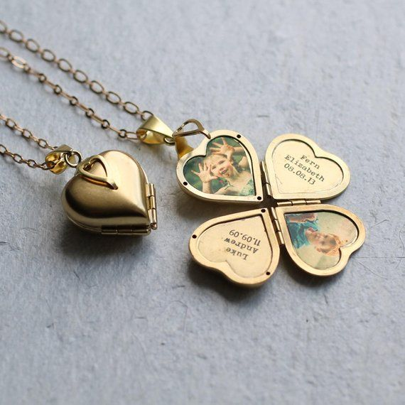 Personalised Photo Locket … Engraved Personalized Gift New Mom Girlfriend Photograph PERSONALISED F&F