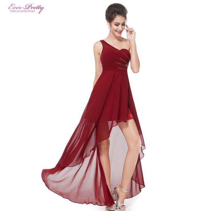 イブニングドレスエバープリティーEP08100セクシーなワンショルダーシフォンファッションのhi-低2017ファッションvestidosイブニングドレス