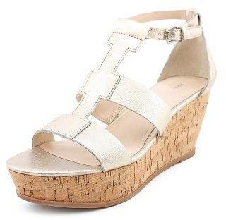 Franco Sarto Falco Women US 10 Silver Wedge Heel