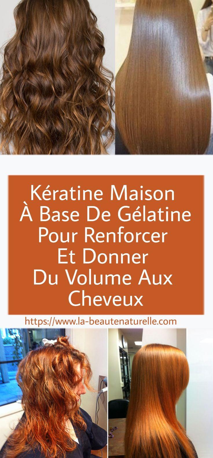 kératine maison à base de gélatine pour renforcer et donner du quantity aux cheveux