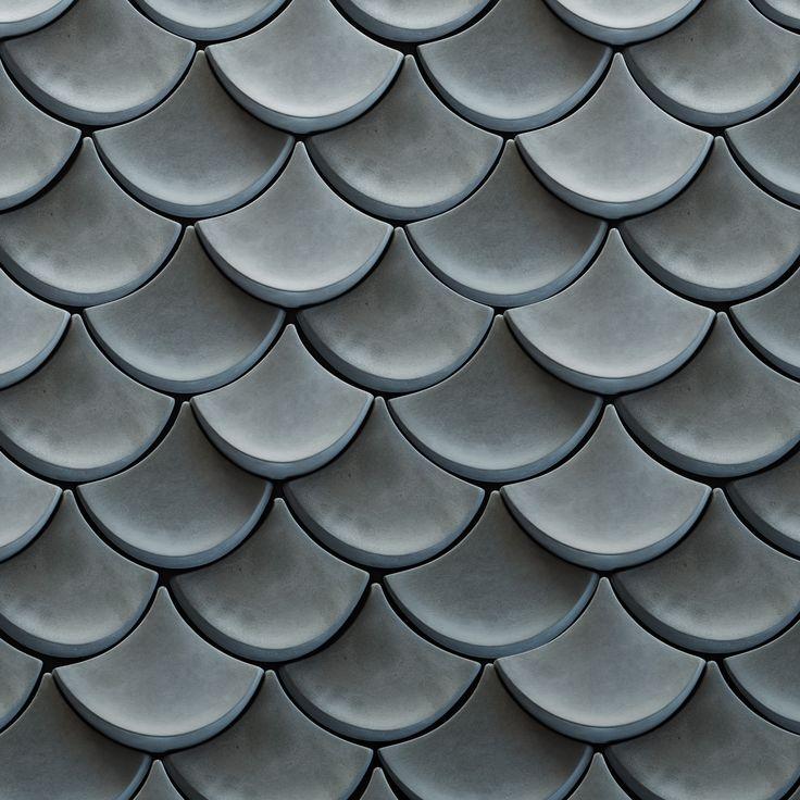 Solid Concrete scale wall tile - Solid Concrete