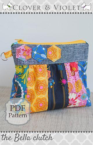 Last-Minute Gift Tutorial: Patchwork French Seam Drawstring ...   Clover & Violet   Bloglovin'