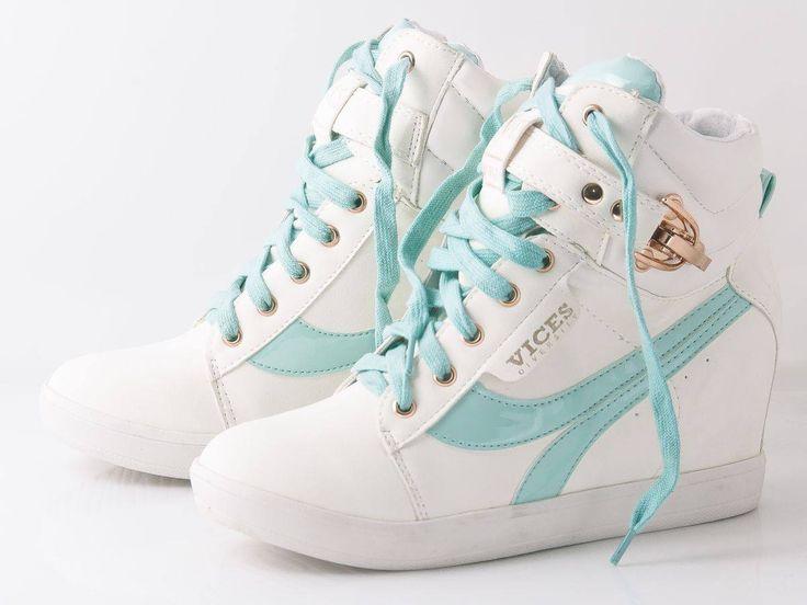 Modne, stylowe, super cena. BUTY!!!  #sneakers #white #tiffanyblue #fashion #kotwbutach