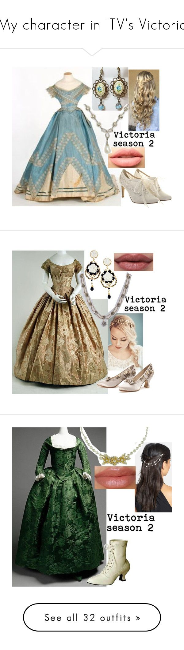 """My character in ITV's Victoria"" by sophie-swan ❤ liked on Polyvore featuring Rainbow Club, LASplash, Poporcelain, Berry, Miriam Haskell, Favero, Zara Taylor, 1928, Menbur and David Webb"