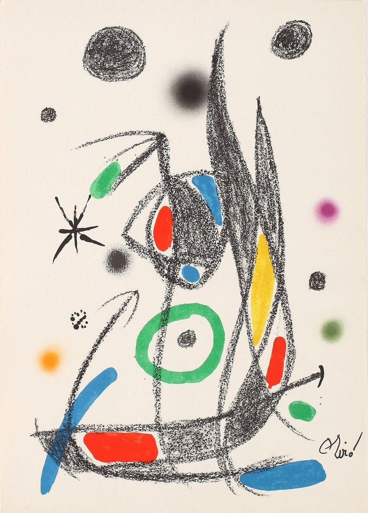 LOT 5 JOAN MIRÓ Maravillas con Variaciones Acrósticas en El Jardín de Miró 14 [1975] Chromolithography 49.5 × 35 cm (19.5 × 13.8 inch) Estimate €400 - €600 Starting price €350  http://lavacow.com/current-auctions/lavacow-autumn-auction/maravillas-con-variaciones-acrosticas-14.html