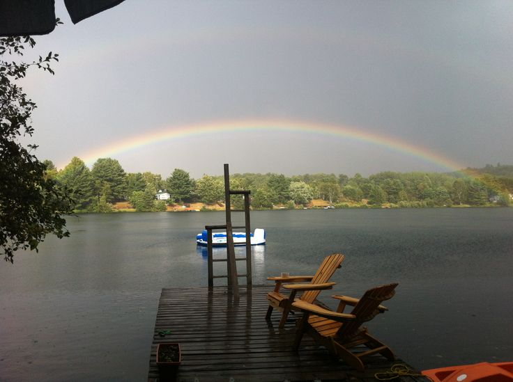Beautiful Double Rainbow @ the cottage 2012