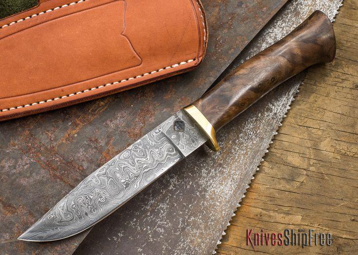 Jesse Hemphill Custom Knives: Bowie Knife - Walnut Burl - JH02GA08