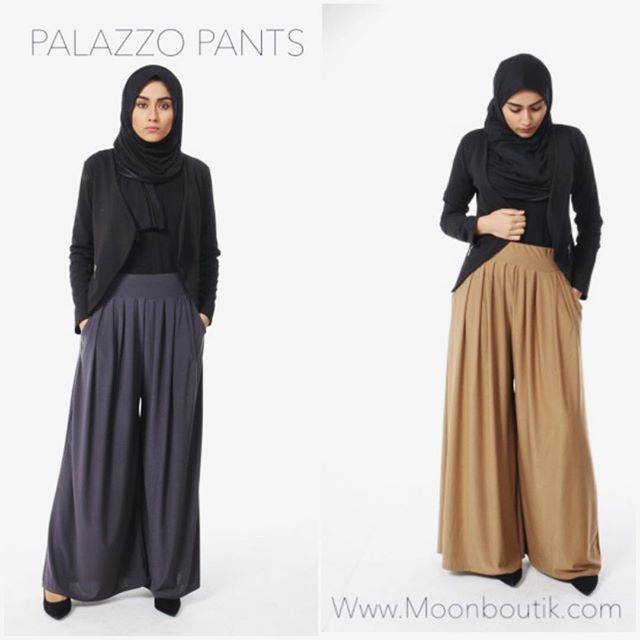 ELEGANZA PALAZZO PANTS !  Perfect modest pants , elegant and modest ️Camel /grey / brown  A must have piece all details ️AVAILABLE in ️clothing --) trousers ✔️ Www.moonboutik.com