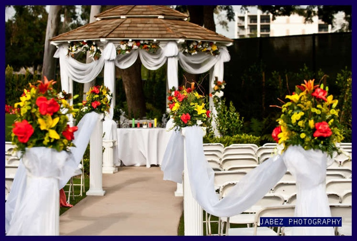 outside wedding ceremony decorations 9420