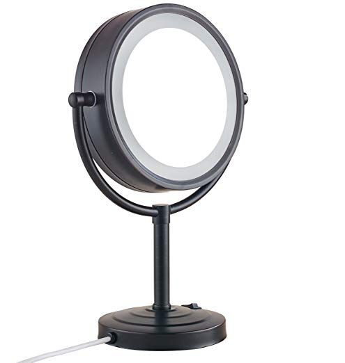 Cavoli 8 5 Inch Led Makeup Mirror With 10x Magnification Tabletop Two Sided Oil Rubbed Bronze Finish For Bathroom Bedroom 5in Review