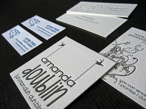 Не ваш средний размер визитная карточка
