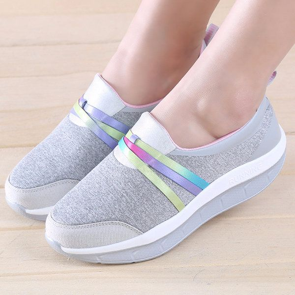 983f196a4b7a Comfortable Mesh Breathable Rocker Sole Walking Shoes - NewChic ...