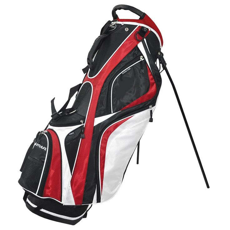 Featuring a molded top handle for easy carrying these mens 2014 OS 7.7 golf stand bags by Orlimar also provide large spacious pockets