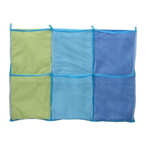 3.99 IKEA - KUSINER, Wall pockets, blue, , The wall pocket saves space with practical and decorative storage.Practical storage for small things.