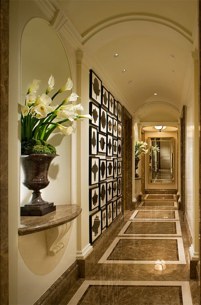 "dramatic floor & wall -- Cullman & Kravis: City ""Fifth Avenue Pied-A-Terre"""