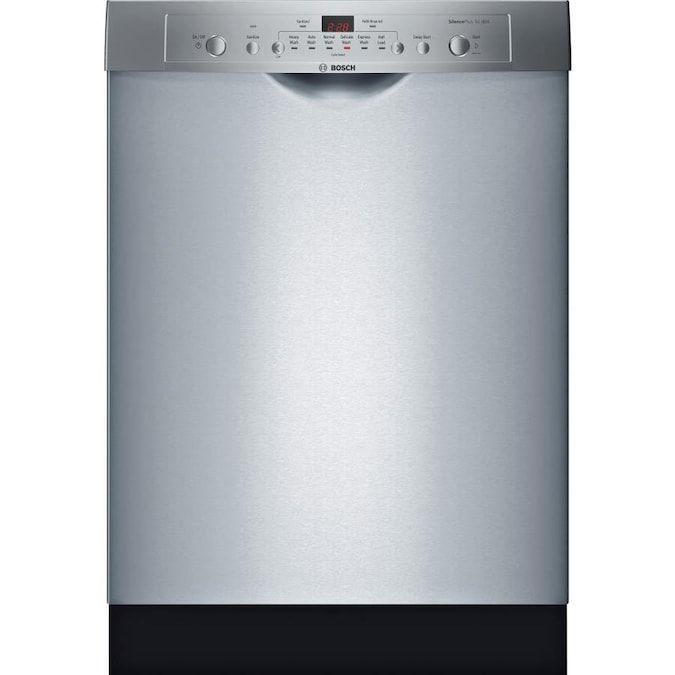 Bosch Ascenta 50 Decibel Front Control 24 In Built In Dishwasher Stainless Steel Energy Star Lowes Com Built In Dishwasher Steel Tub Bosch
