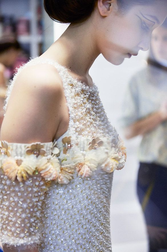Fittings for Chanel Spring/Summer 2016 Haute Couture Collection.  Photo: Chanel.