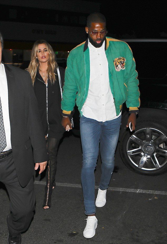 Tristan Thompson Goes Out With Khloe Kardashian Wearing Gucci Jacket And Saint Laurent Sneakers