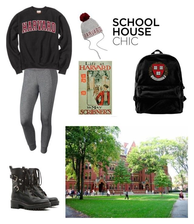"""""""Harvard student"""" by girlboss1 ❤ liked on Polyvore featuring NIKE and RED Valentino"""