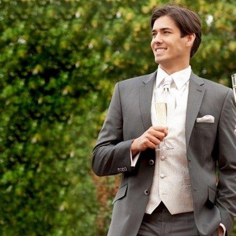 Pánsky svadobný sivý oblek PO10 - Svadobný salón Valery