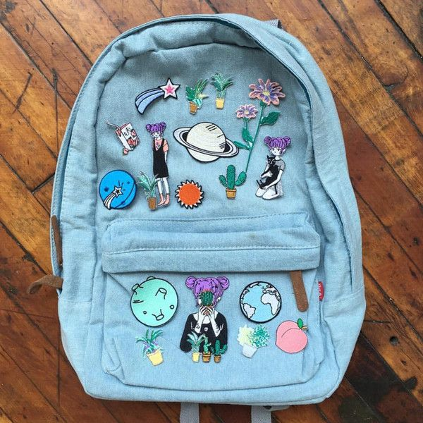 Tumblr 90s grunge denim backpack (205 BRL) ❤ liked on Polyvore featuring bags, backpacks, blue bag, denim bags, knapsack bag, rucksack bags and grunge backpack