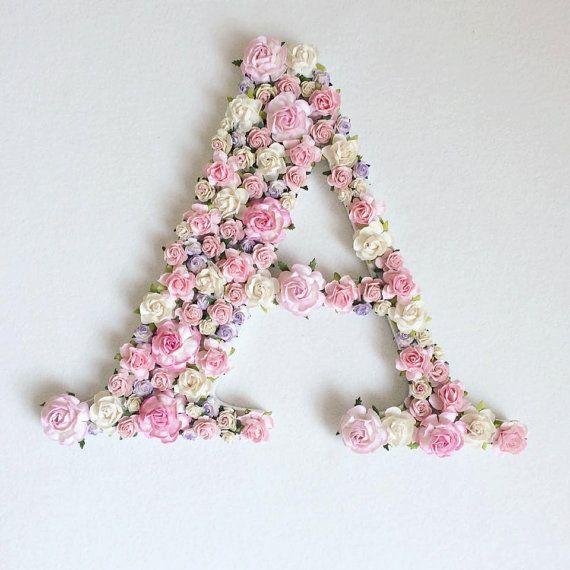 Custom order floral letter //baby shower gift// wedding decor