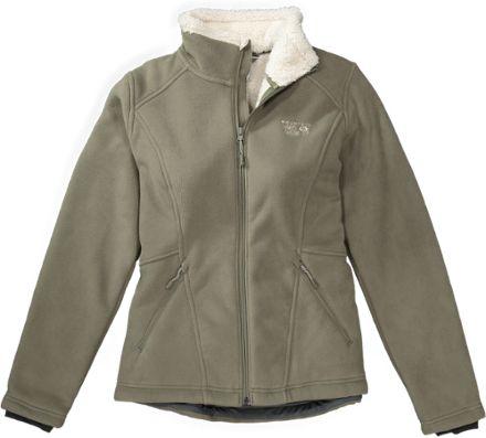 Mountain Hardwear Women's Dual Fleece Jacket Stone Green XL