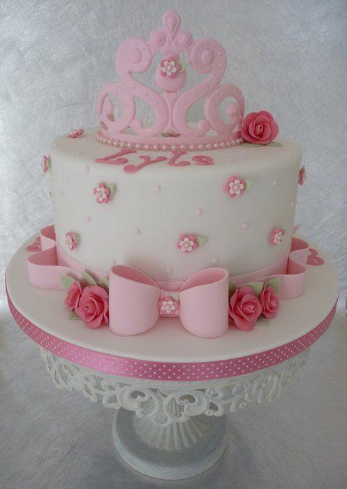 A shabby chic themed tea party cake.