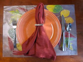 ID Mommy: ID Mommy Project: Make a Fall Leaf Placemat!