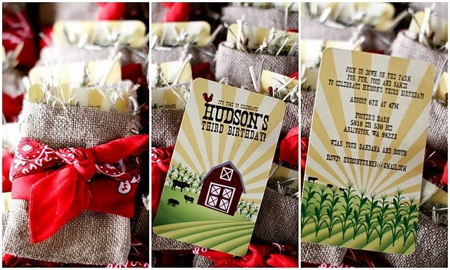 farm party invites
