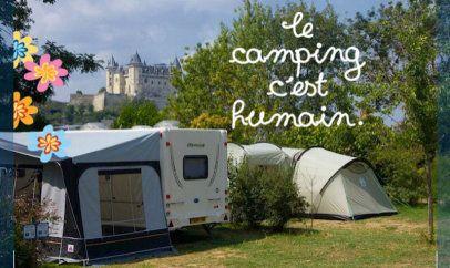 Flower Camping Ile d'Offard - Saumur en Anjou Val de Loire #Saumur #Loirevalley