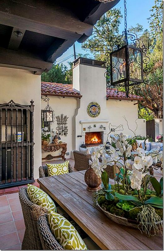 .My dream house definitely includes a fireplace outside - not one of those silly fire pits.