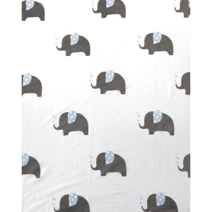 Baby Muslin Wrap Swaddle Blue Elephant 100% Cotton Newborn Gift - Ivaleegifts
