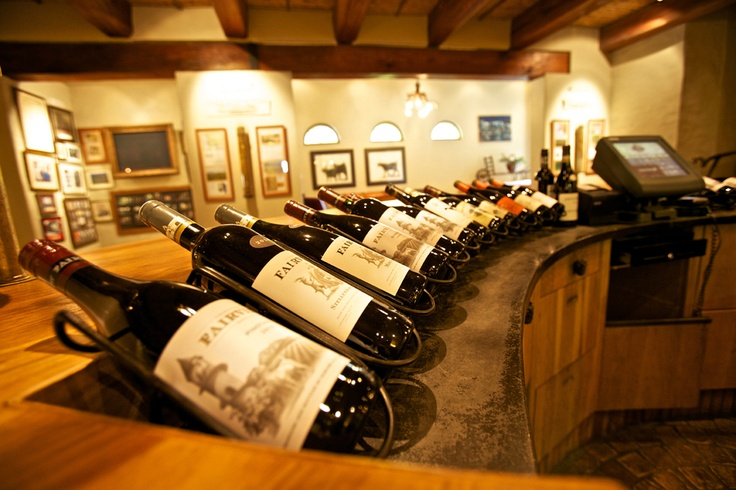 Fairview wine in the tasting room.
