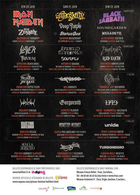 Zombie signs up for Hellfest 2014 in France
