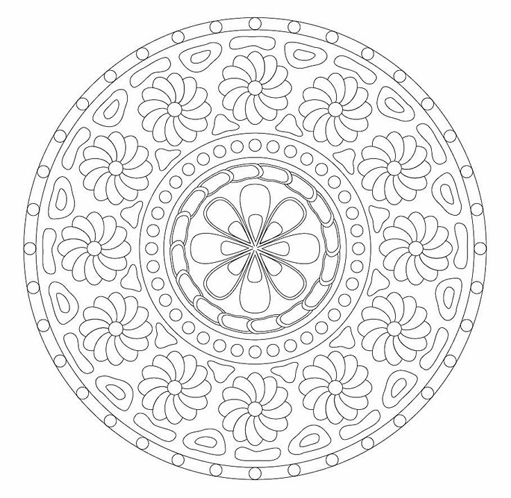 17 best images about mandala coloring pages on pinterest
