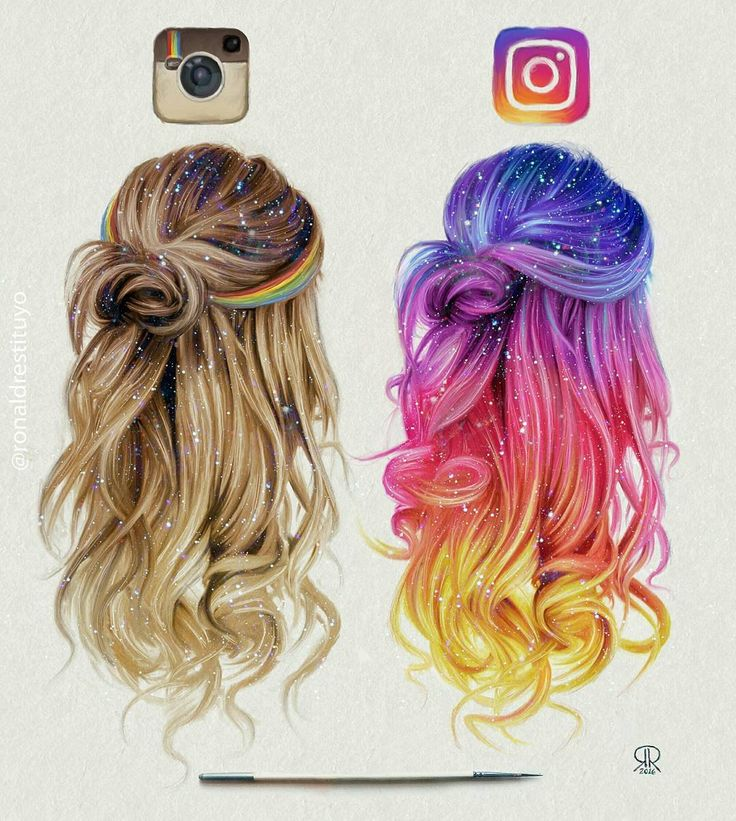 Desenho de cabelo Instagram