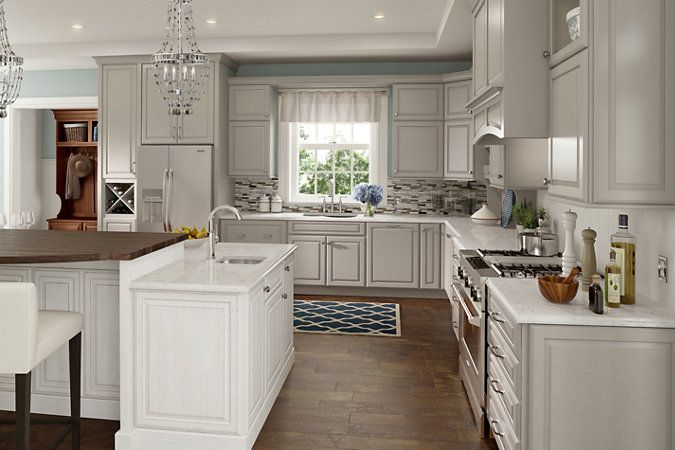 Schuler Cabinetry Princeton Maple Harbor Mist Island