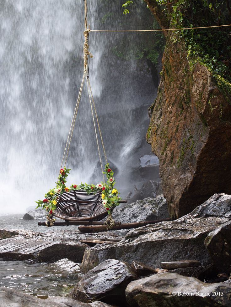 Waterfall swing Cambodia