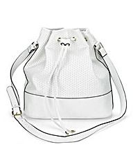 White Perforated Duffle Bag