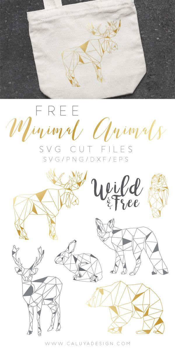 FREE Minimal Animals SVG Cut File (DXF, EPS & PNG) by