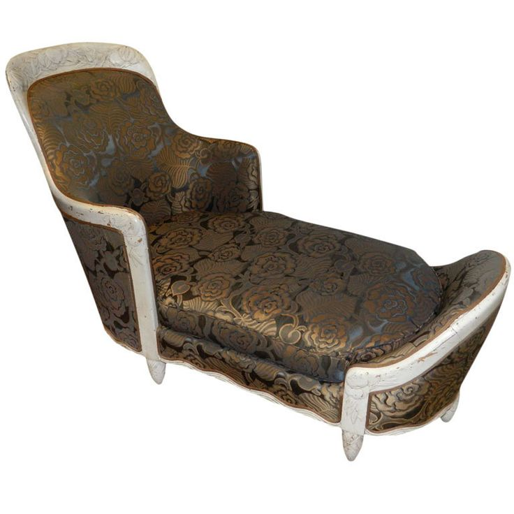 167 best images about art deco furniture on pinterest for Art deco style chaise lounge