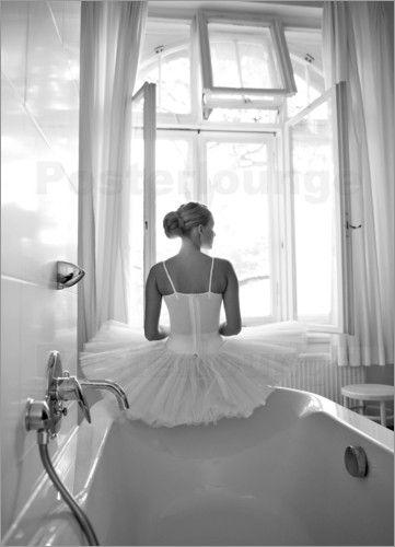 Poster Ballerina Im Badezimmer